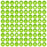 100 web development icons set green. 100 web development icons set in green circle isolated on white vectr illustration Royalty Free Stock Image