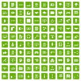 100 web development icons set grunge green. 100 web development icons set in grunge style green color isolated on white background vector illustration stock illustration