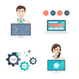 Web Development Icons Set Stock Photos