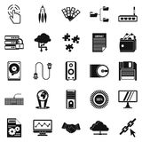 Web development icons set, simple style. Web development icons set. Simple set of 25 web development vector icons for web isolated on white background Stock Photos