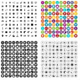 100 web development icons set vector variant. 100 web development icons set vector in 4 variant for any web design isolated on white Stock Photos