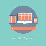 Web development illustration concept Royalty Free Stock Image