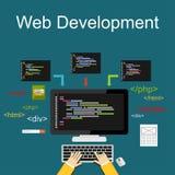 Web development illustration. royalty free illustration