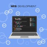 Web development infographic. Programming and coding concept. Vector illustration Stock Photos