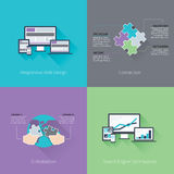 Web development minimal flat business vector compu Royalty Free Stock Image
