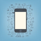 Web development with modern smartphone Royalty Free Stock Photos