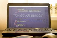 Web development phrase ASCII art inside real HTML code Royalty Free Stock Photography