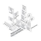 Web Development Process Infographic Stock Photography