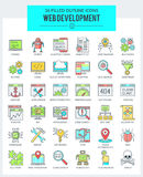 WEB Development and Programming Icons Royalty Free Stock Photos
