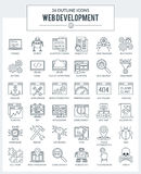 WEB Development and Programming Icons Stock Images