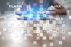 Web development. Programming. Internet and technology concept. Web development. Programming. Internet and technology concept stock photos