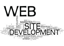 Web Development Services Word Cloud. WEB DEVELOPMENT SERVICES TEXT WORD CLOUD CONCEPT Stock Photography