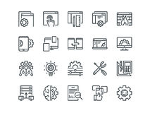 Web Development. Set of outline vector icons. Includes such as UX, Coding, Interface and other. Editable Stroke. 48x48. Pixel Perfect Royalty Free Stock Image