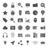 Web Development Solid Icons Stock Images