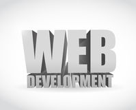 Web development text sign illustration design Royalty Free Stock Images