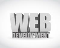 Web development text sign illustration design Royalty Free Stock Images