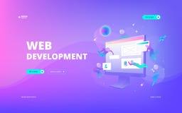 Web development web banner Royalty Free Stock Photo