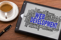 Web development word cloud. With related tags Royalty Free Stock Image