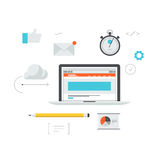 Web development workflow illustration Royalty Free Stock Photos
