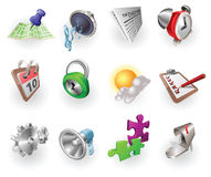 Web di colore ed insieme dinamici dell'icona di applicazione Fotografia Stock
