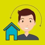 web di Home Page dell'uomo Immagini Stock