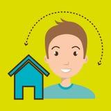 web di Home Page dell'uomo Fotografie Stock