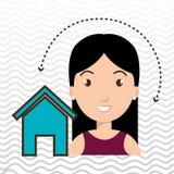 web di Home Page della donna Immagini Stock