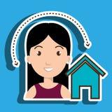 web di Home Page della donna Immagini Stock Libere da Diritti