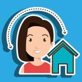web di Home Page della donna Fotografia Stock