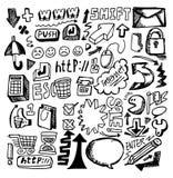 Web di tiraggio della mano Immagini Stock