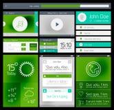 Web di Ui ed elemento piani del cellulare Fotografie Stock Libere da Diritti