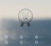 Web di vettore e modello dell'interfaccia del cellulare Progettazione corporativa del sito Web di viaggio Contesto di Minimalisti Immagine Stock