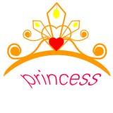 web Diadema de brilho Tiara dourada isolada no fundo preto Ilustra??o do vetor ilustração royalty free