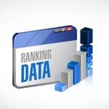 Web die stats bedrijfsillustratieontwerp rangschikken Royalty-vrije Stock Afbeelding