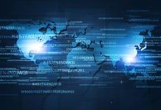 Web Digital Coding. Digital coding concept technology internet security blue background stock photo