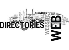 Web Directories For Seo Word Cloud Stock Image