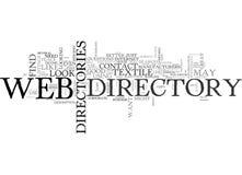 Web Directoriesword Cloud Royalty Free Stock Image