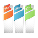 Web discount banners ,tag or label Stock Images