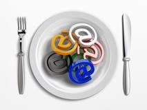 Web dish Stock Image