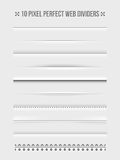 Web dividers design elements Royalty Free Stock Photos