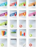 Web do conjunto de ferramentas dos desenhadores 2.0 ícones Foto de Stock Royalty Free