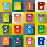 Web document icons set, flat style Stock Photo