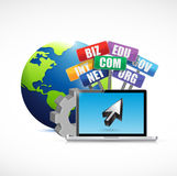 Web domains signs international concept Royalty Free Stock Photo