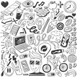 Web doodles collection Royalty Free Stock Photos
