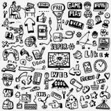 Web doodles set Royalty Free Stock Photos