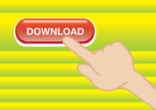 Web download button Royalty Free Stock Photography