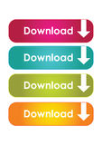 Web download buttons stock illustration