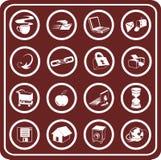 Web e ícones de computação Imagens de Stock Royalty Free