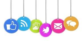 Web e conceito social dos meios Fotos de Stock