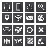 Web e iconos móviles Foto de archivo libre de regalías
